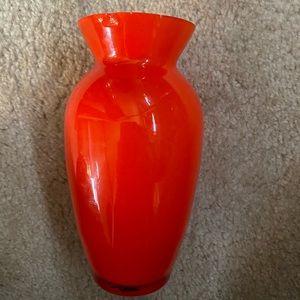 Small Orange Vase